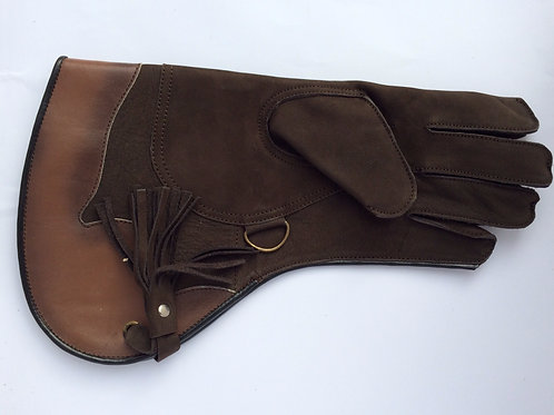 Brown Double thickness long cuff glove