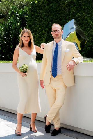 Editorial wedding portrait