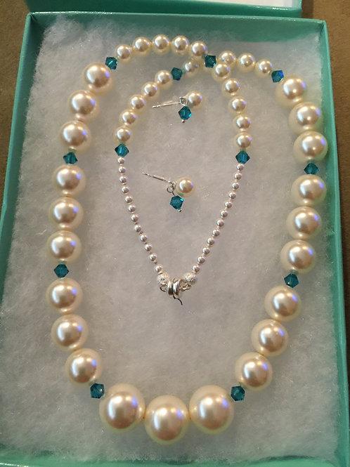 Bridesmaid Pearl & Gemstone Sets