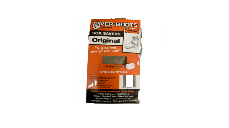 Over-boots sock savers cotton drill OSFA