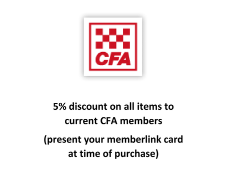We support our local CFA brigades