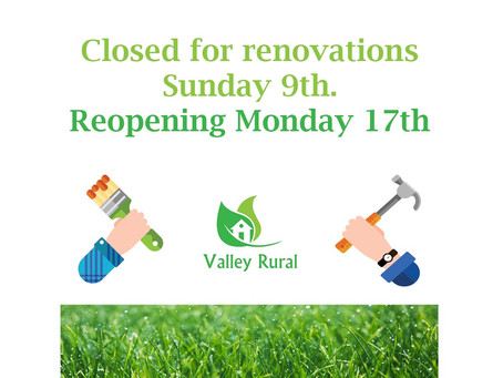 Closed for renovations - back on the 17th August!