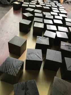 Bog oak cubes