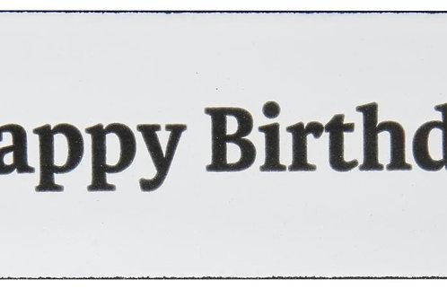 Schild: Happy Birthday