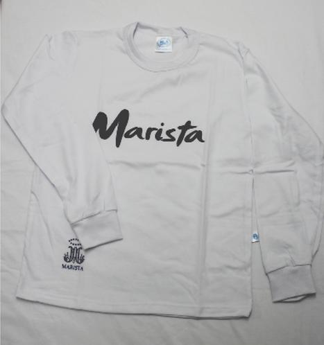 Camiseta Marista Fund Unissex Manga Longa algodão Branca