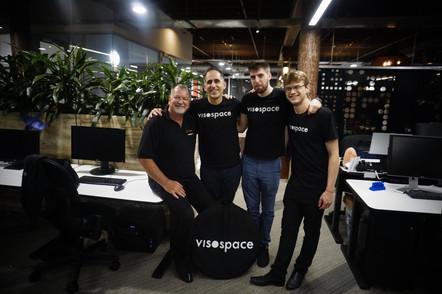 Ric Holland with Visospace team. Extreme Digital Ventures