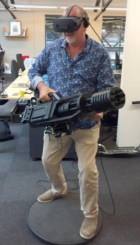 Ric Holland testing Visospace Alto VR hoverboard.  Extreme Digital Ventures