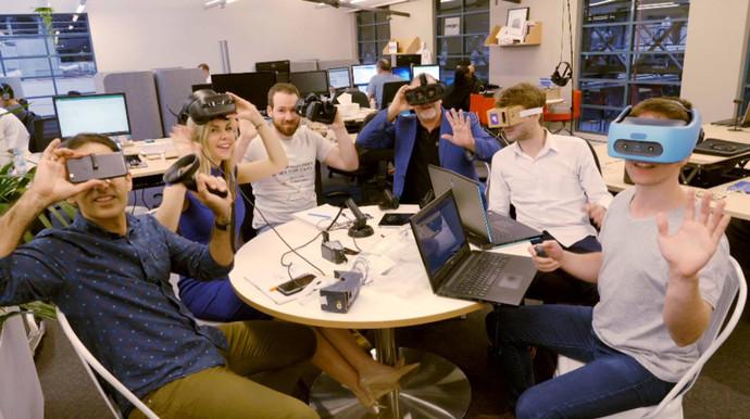 Ric Holland with team Visospace XR at Hoist  Extreme Digital Ventures