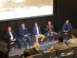 Ric Holland moderating a panel for  Storm FX. Extreme Digital Ventures
