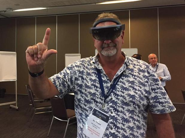 Ric Holland exploring Microsoft HoloLens 2 - AR Extreme Digital Ventures