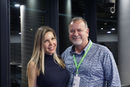 Ric Holland and Amber Cordeaux at Women in AR/VR meetup at Facebook. Extreme Digital Ventures