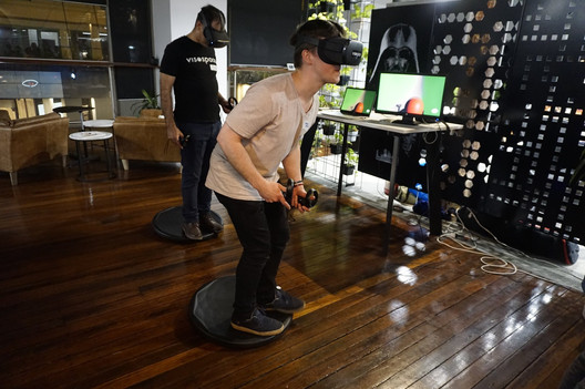 Visospace and HTC meetup with Alto VR Hoverboard demos
