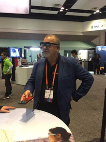Ric Holland exploring Nreal AR at AWE in Silicon Valley. Extreme Digital Ventures