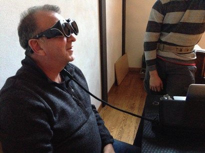 Ric Holland at Meta HQ in Silicon Valley trying out their AR prototype headset. Extreme Digital Ventures