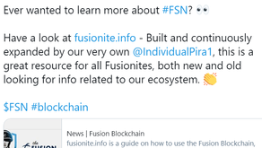 Fusionite.info recognised by the Foundation!