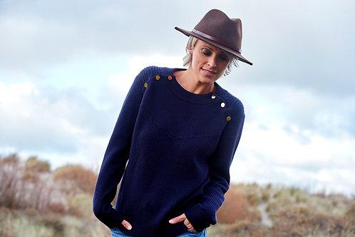 Marine Blue Sweater Inès