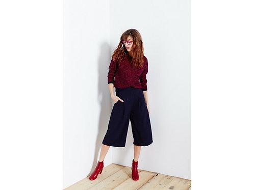 Blue Culotte Pants Anna