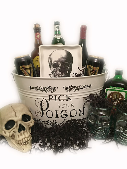 Halloween Beverage or Snack Bucket-Pick Your Poison