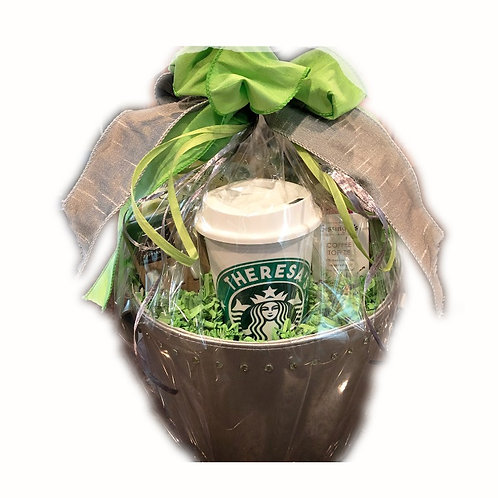 Personalized Starbucks Basket