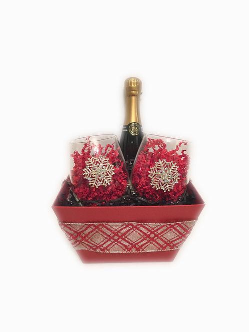 Snowflake Wine Glass Gift Set