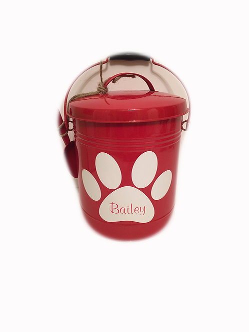 Personalized Dog Bucket