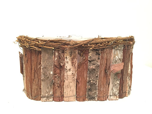 BARK OVAL CONTAINER -LARGE-