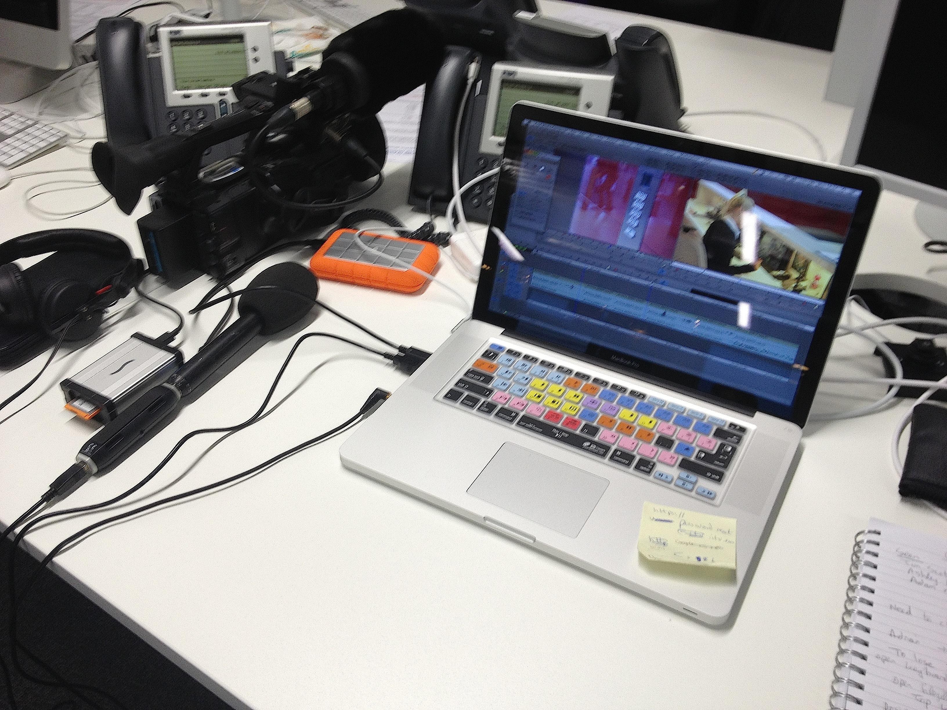 Laptop editing