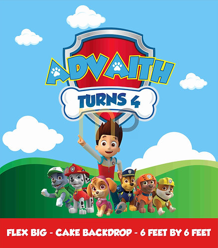 Paw Patrol B'day (Red, Blue and Yellow)