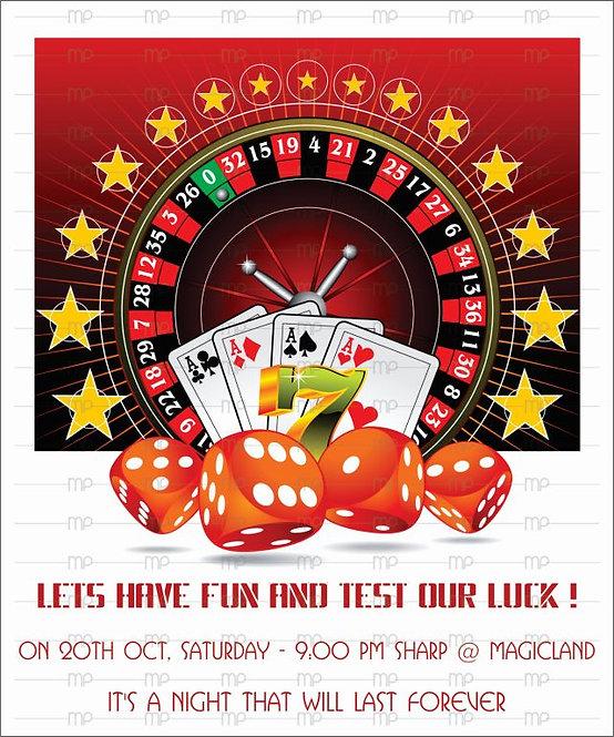 Poker Party - Red, Black & Golden