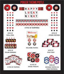 Poker theme Decoration