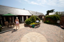 Outside Courtyard & BBQ Area