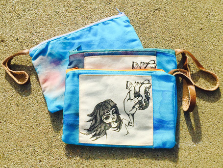 Sewing and Silk Screen printing to share a heart
