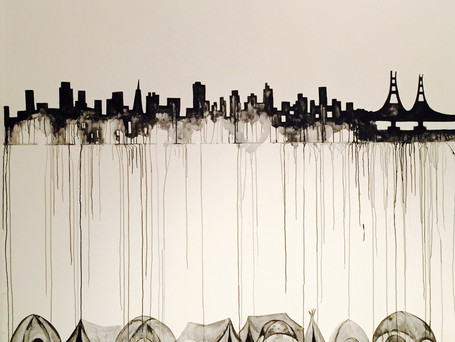 Gallery Exhibition reflection on a wealthy city that wets on the poor