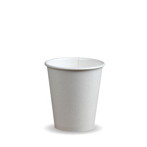 Coffee Bekker 8OZ enkelwandige  Witte of Kraft