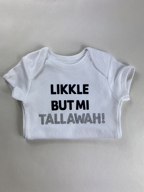 Tallawah Baby Vest White & Silver