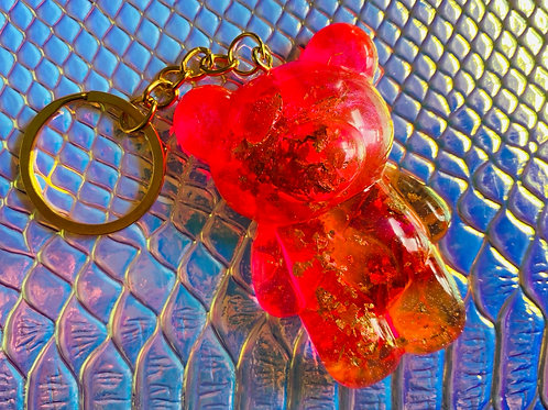 Pink Passion Teddy key Chain