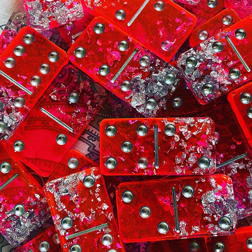 Pink sparkle Dominoes