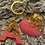 Thumbnail: Pink Passion Double Letter and Heart Key Chain