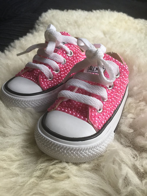 Infant Pink Pearl Converse
