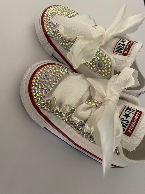 Infant Blinged White Converse