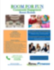 Community Engagement Room Rental Flyer-