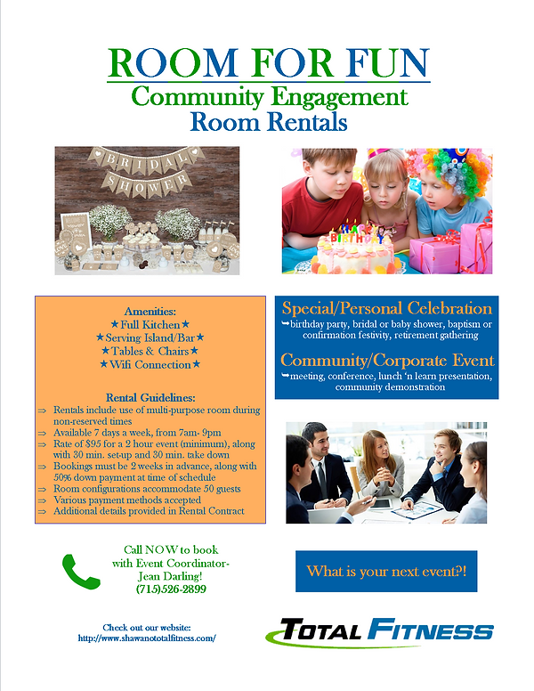 Community Engagement Room Rental Flyer-