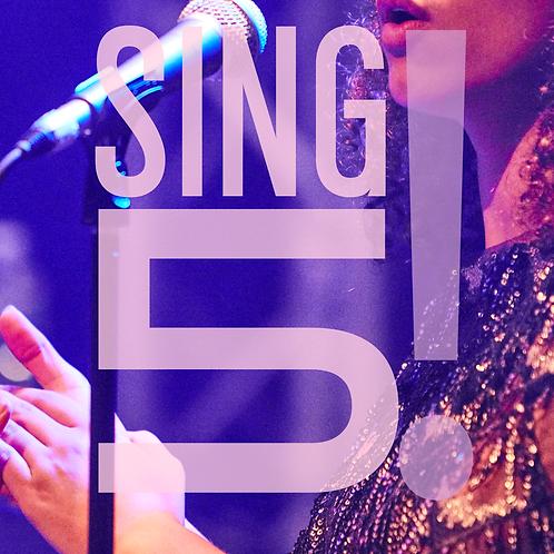 SING5! 5 heures de coaching chant tous niveaux