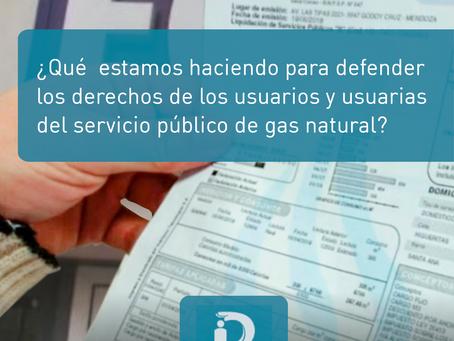 Reclamos por el servicio público de gas natural