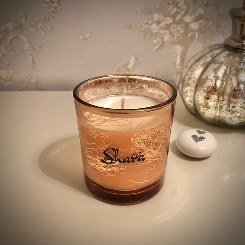Small 'Trees' Candle - Rose Gold