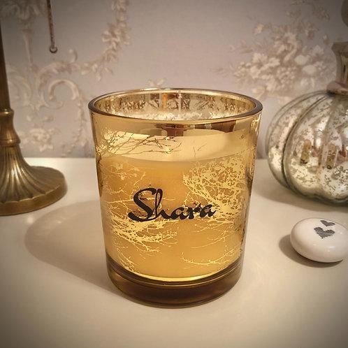 Medium 'Trees' Candle - Gold