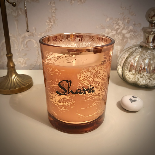 Large 'Trees' Candle - Rose Gold