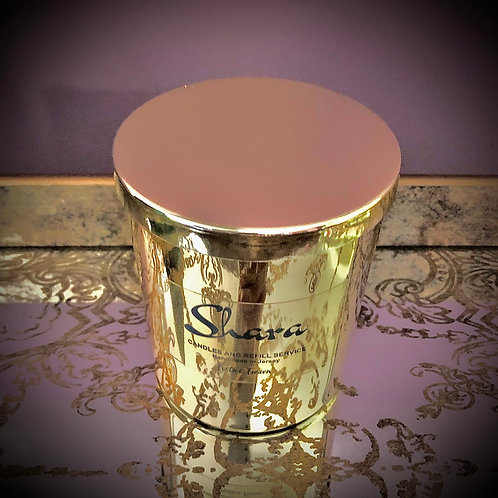 Glass Candle - Gold