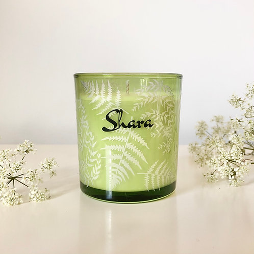 Small 'Ferns' Candle