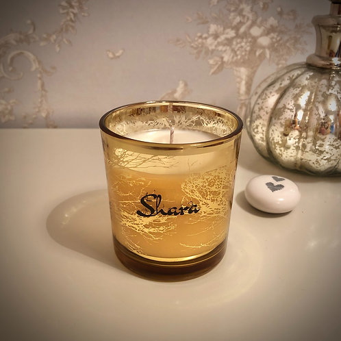 Small 'Trees' Candle - Gold